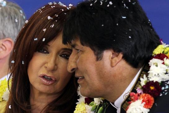 Cristina Kirchner, Evo Morales