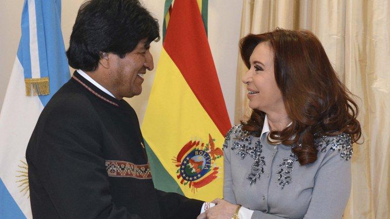 Evo Morales, Cristina Kirchner