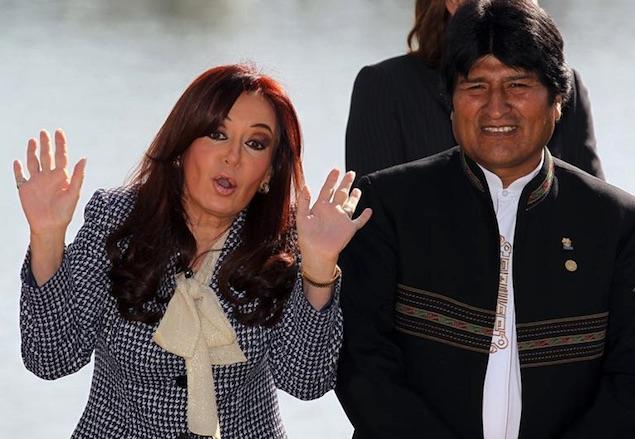 Evo Morales y Cristina Kirchner