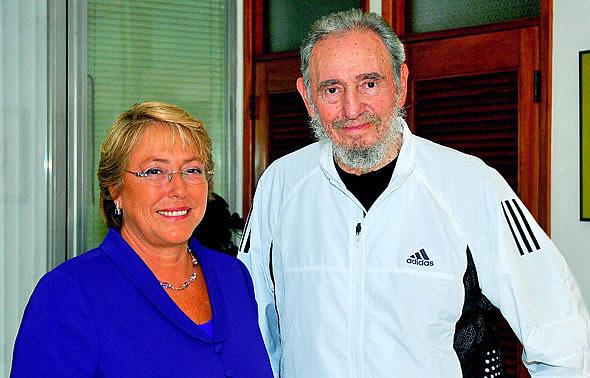 Fidel Castro, Michelle Bachelet