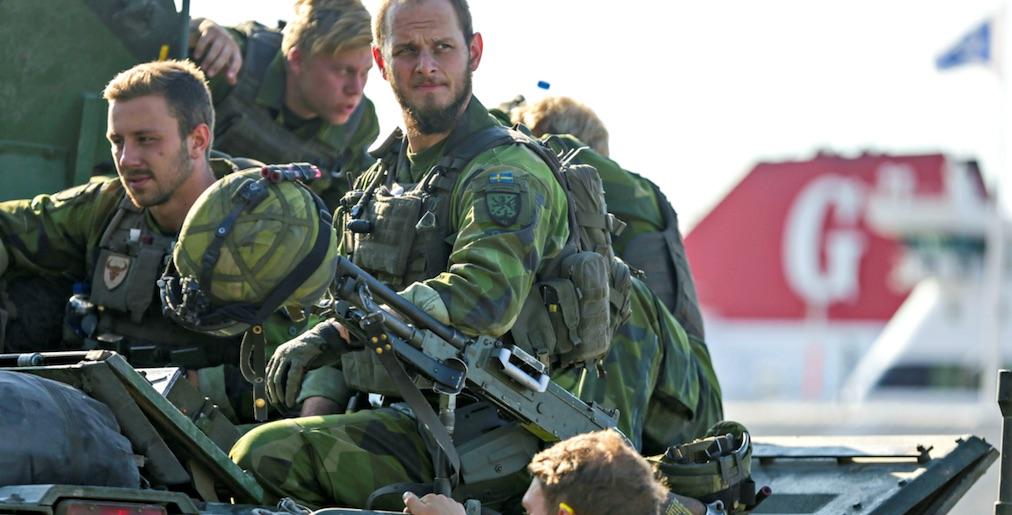Gotland, soldados suecos