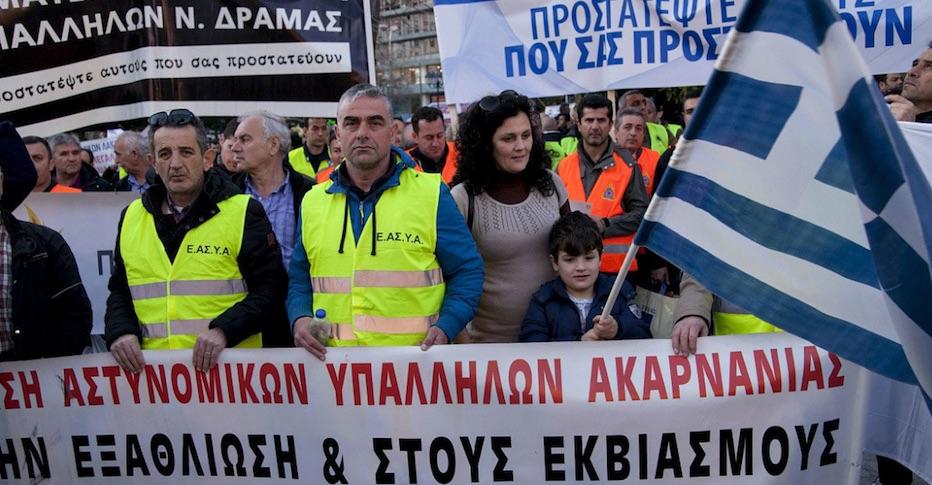 Deuda, Grecia, protestas
