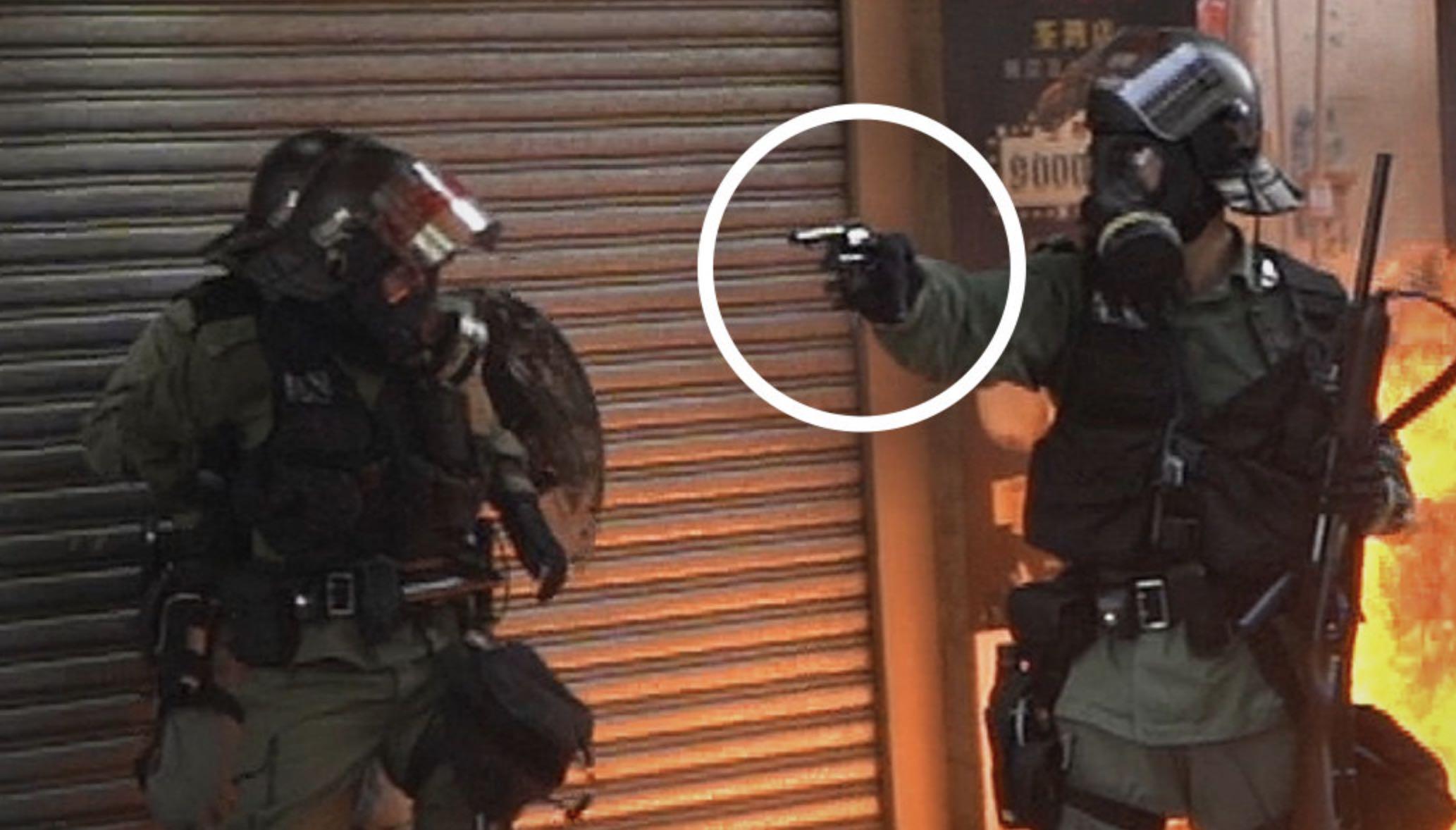 Policía de Hong Kong dispara contra manifestantes