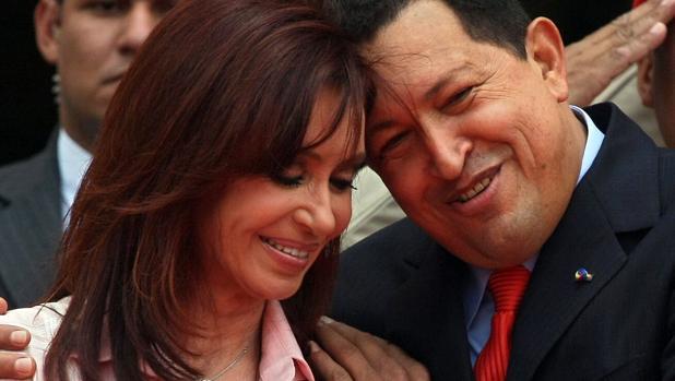 Hugo Chávez y Cristina Kirchner
