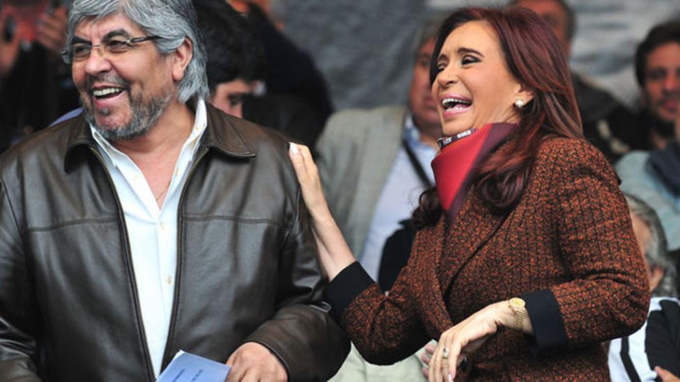 Hugo Moyano y Cristina Kirchner