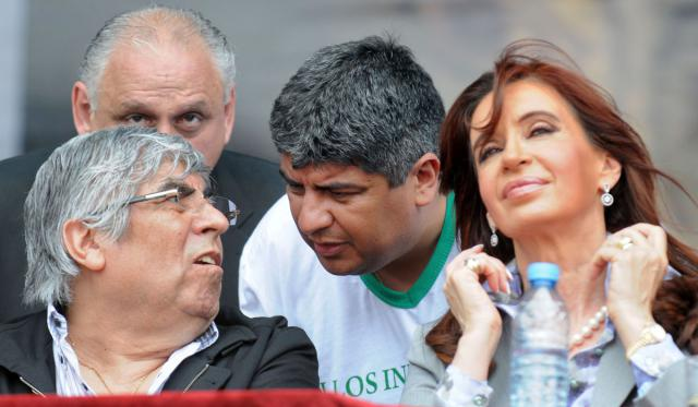 Hugo Moyano, Pablo Moyano, Cristina Kirchner