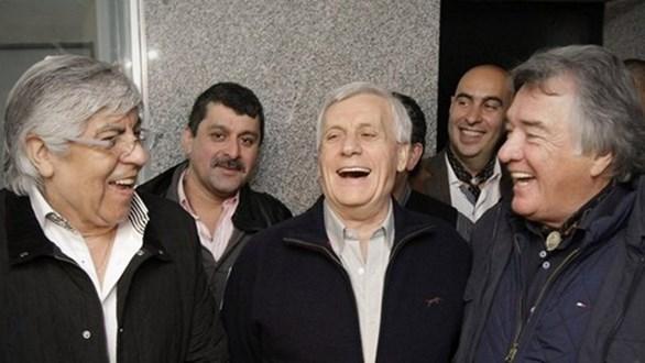 Hugo Moyano y sindicalistas peronistas