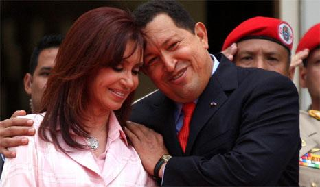 Cristina Kirchner y Hugo Chávez Frías