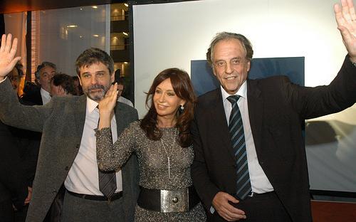 Filmus, Heller y Cristina Wilhelm