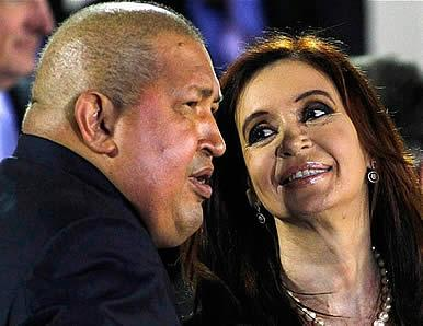 Hugo Chávez, junto a Cristina Fernández Wilhelm