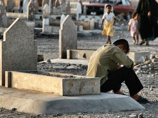 Irak, cementerio en Kirkuk