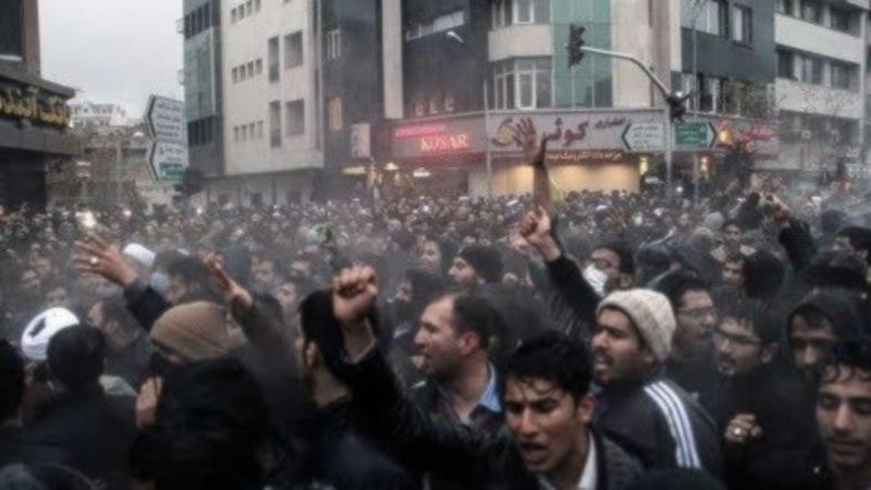 Protestas en Irán contra el régimen, Teherán