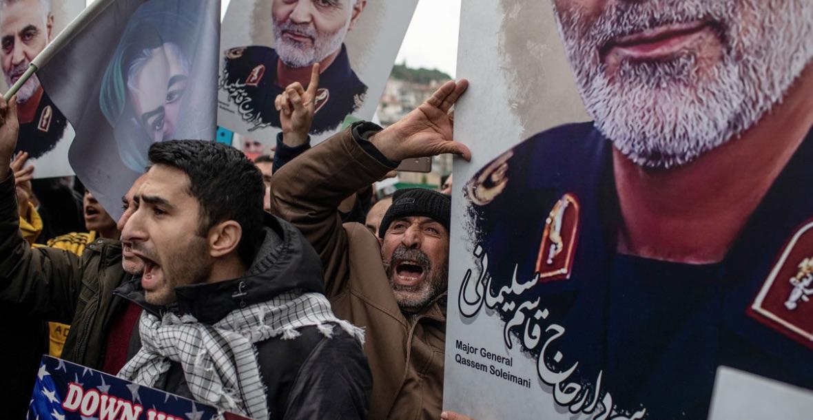 Irán, Manifestaciones, Soleimani