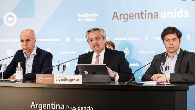 Alberto Fernández, Horacio Rodríguez Larreta, Axel Kicillof