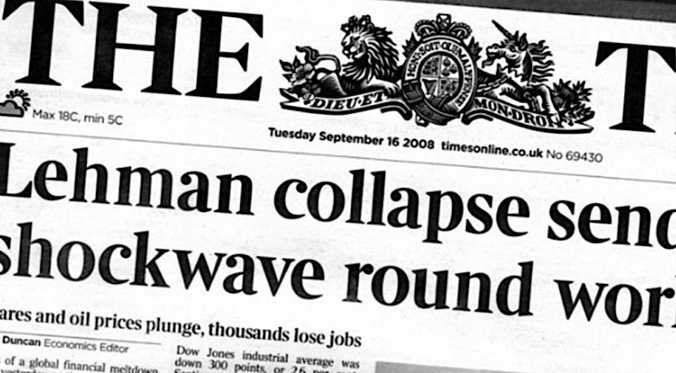 Lehman Brothers, Crisis subprime, Crisis financiera de 2008