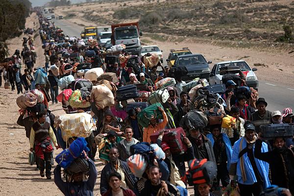 Refugiados libios