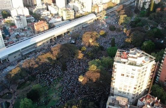Mauricio Macri en Barrancas de Belgrano