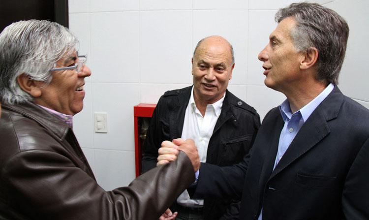 Macri y Moyano