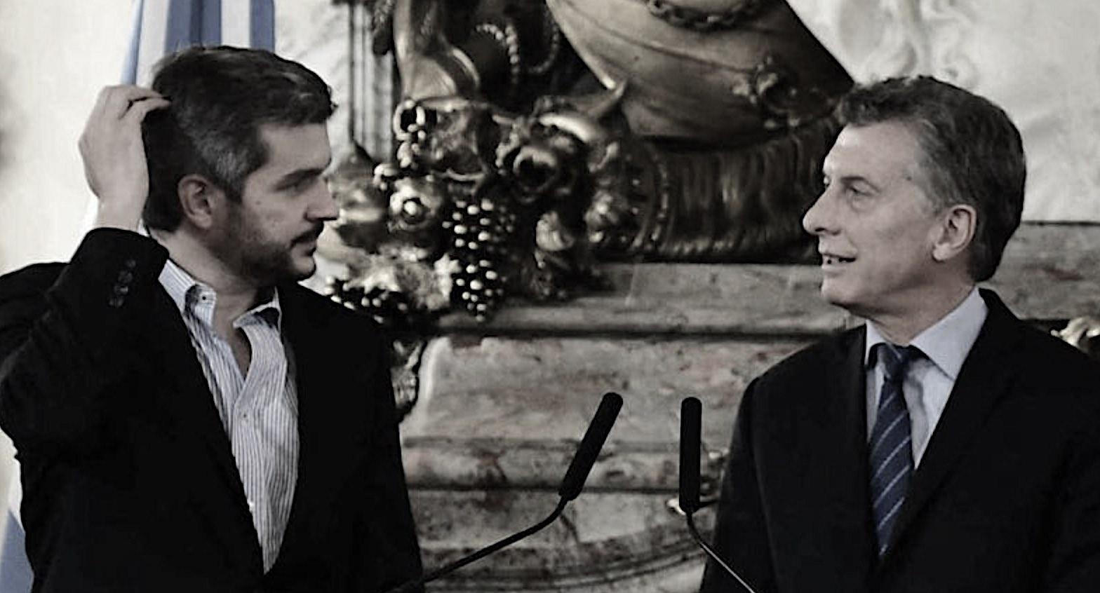 Macri y Marcos Peña
