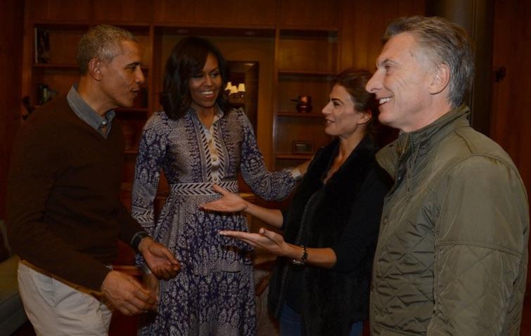 Los Obama y los Macri