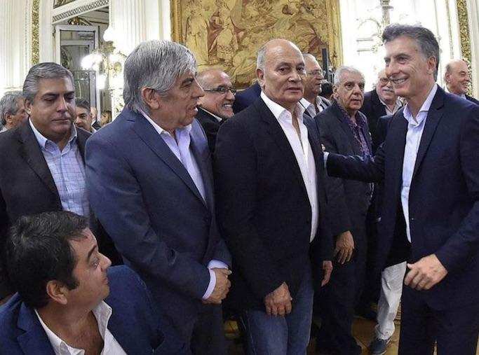 Macri, sindicalistas