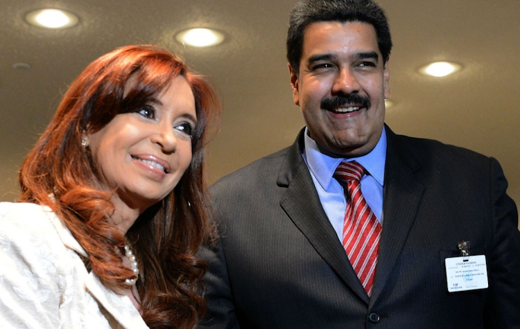 Cristina Kirchner y Nicolás Maduro