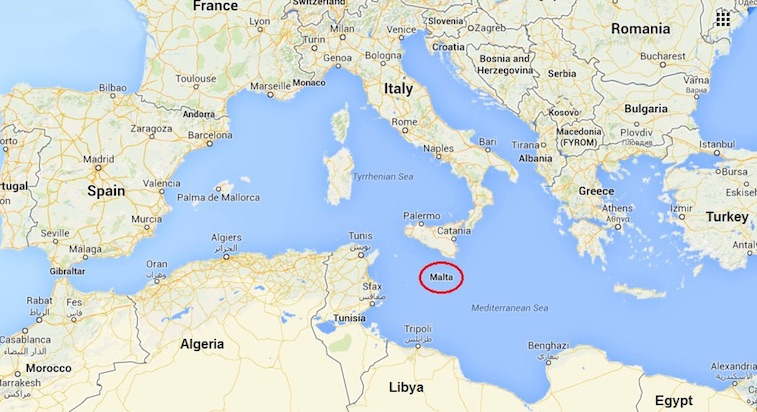 Resultado de imagen para malta mapa