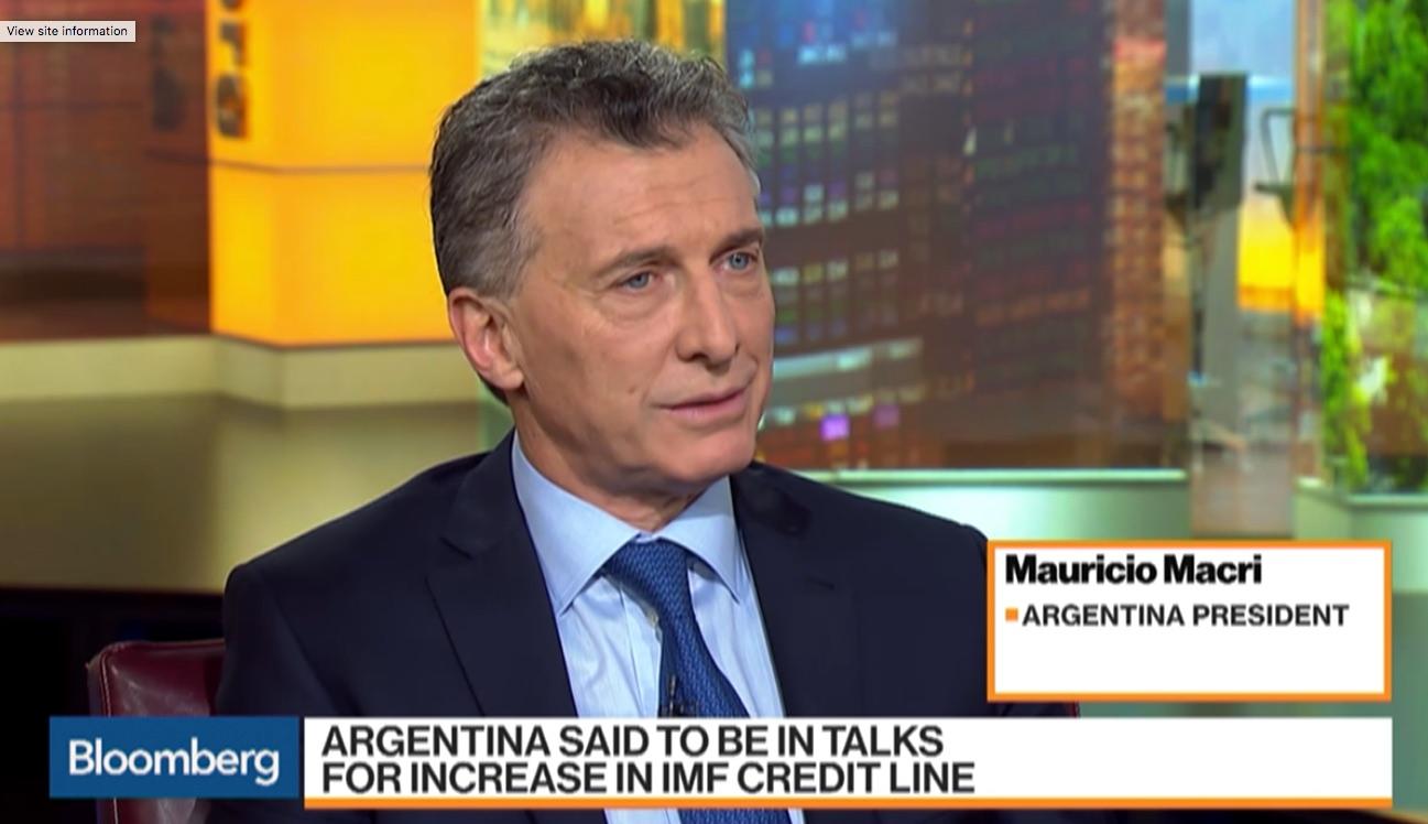 Mauricio Macri en Bloomberg TV