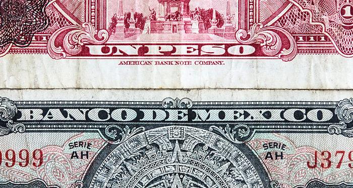 Dólar estadounidense, Peso mexicano