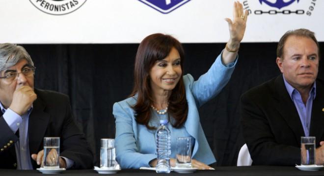 Hugo Moyano, Cristina Kirchner, Omar Caballo Suárez