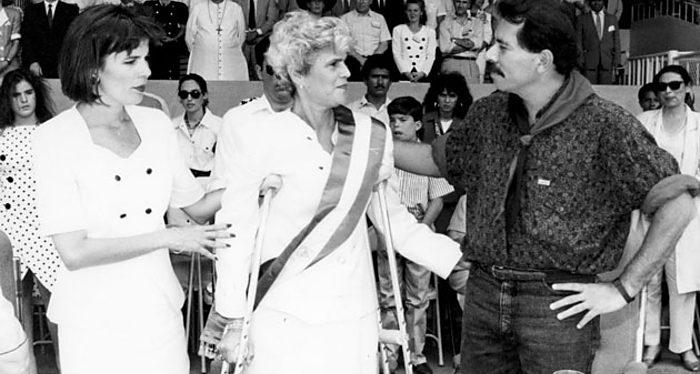Daniel Ortega, Violeta Chamorro, Nicaragua