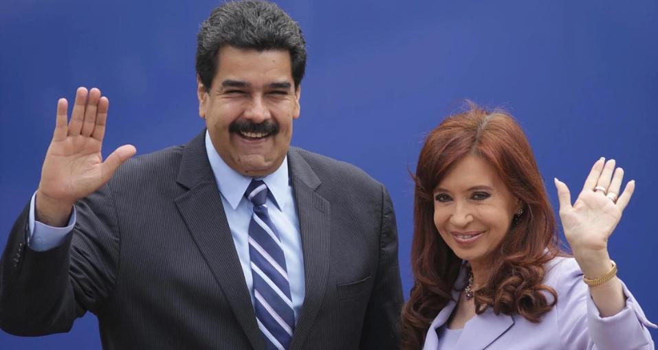 Maduro y Cristina Kirchner; Genocidio; Venezuela; Izquierda internacional