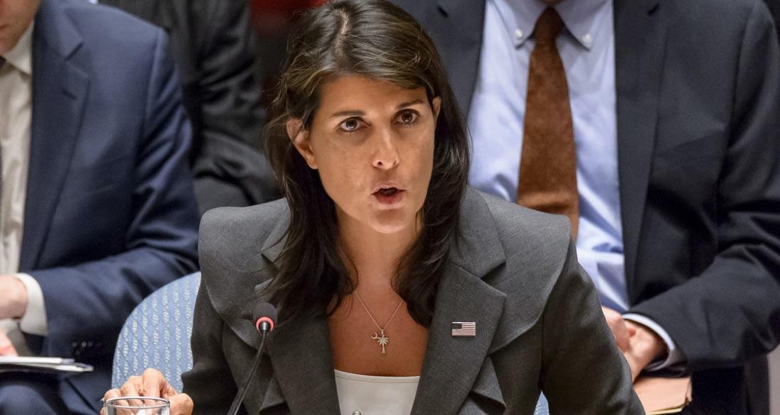 Nikki Haley, Naciones Unidas, Estados Unidos