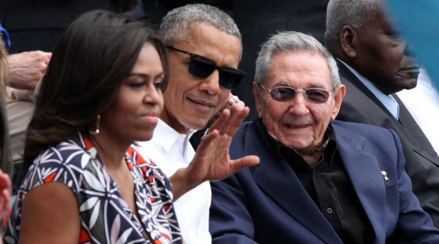 Michelle Obama, Barack Obama, Raúl Castro