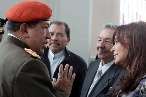 Chavismo, Chávez, Ortega, Cristina Kirchner, Raúl Castro