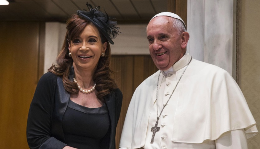 Papa Francisco, Cristina Kirchner