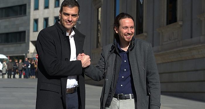 Pedro Sánchez, Pablo Iglesias, Podemos