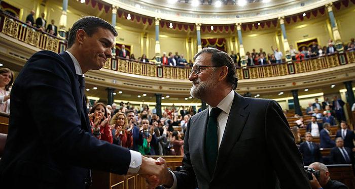 Pedro Sánchez, Mariano Rajoy