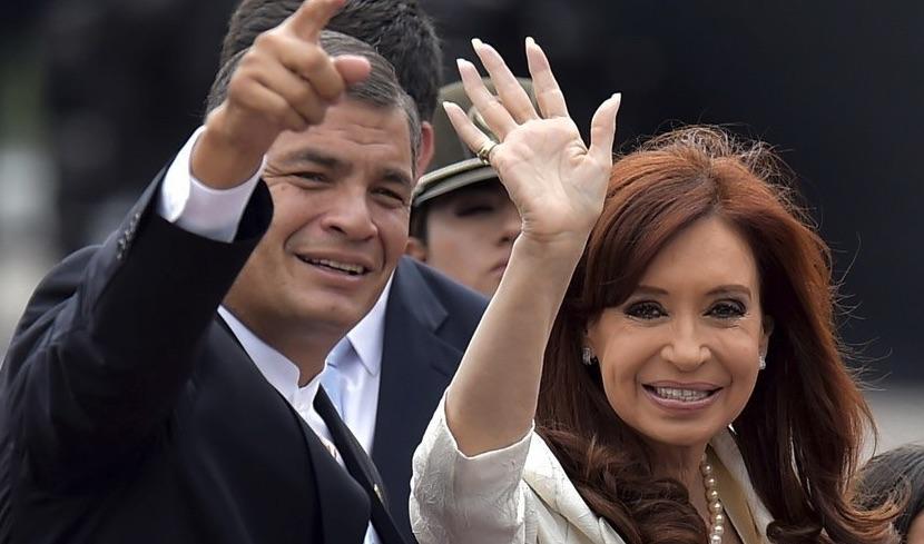 Rafael Correa, orden de captura, Cristina Kirchner