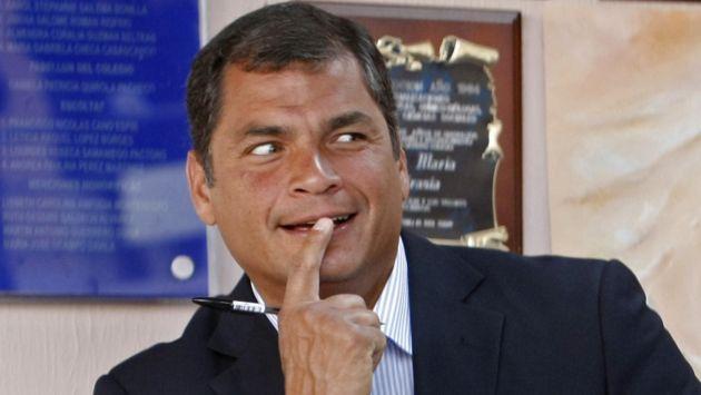 Rafael Correa, risas