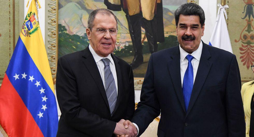 Sergey Lavrov y Nicolás Maduro