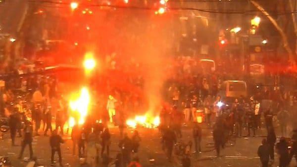 Santiago Maldonado, marcha, incidentes