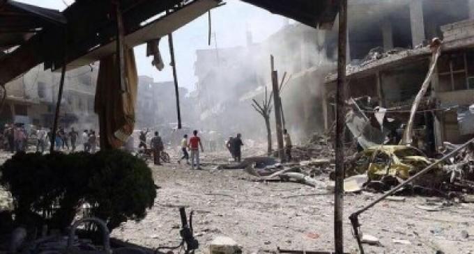 Siria, bombardeo