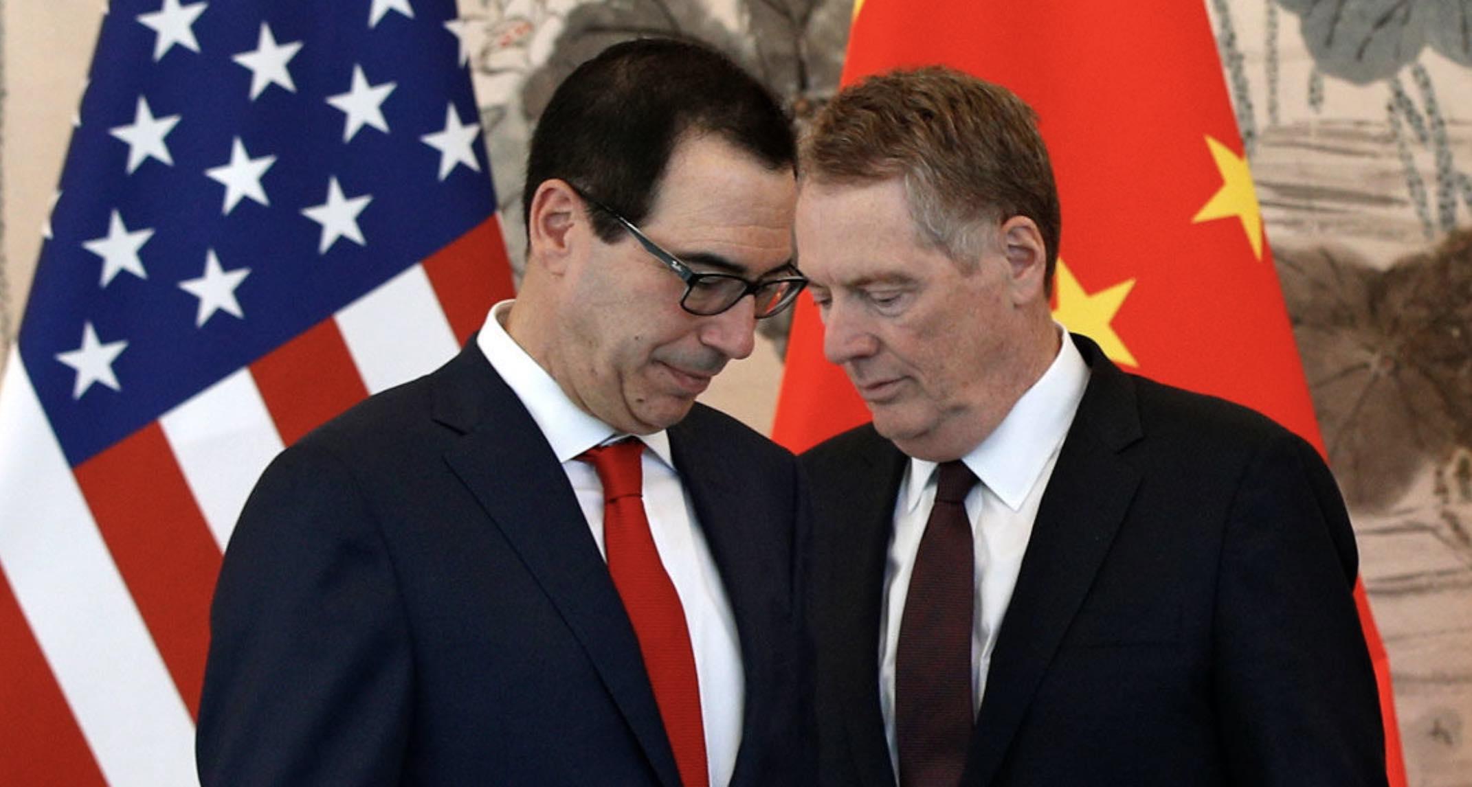 Lighthizer y Mnuchin, Estados Unidos, Guerra comercial con China, Pekín, Donald Trump, Riley Walters
