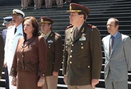 Nilda Garré y César Milani