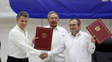 Acuerdo de Paz de La Habana, Narcoterrorismo, Juan Manuel Santos, FARC, Cuba, La Habana, Raúl Castro