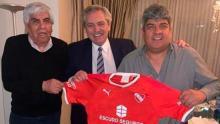 Alberto Fernández, Hugo Moyano, Pablo Moyano