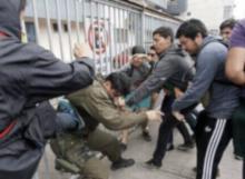 Carabineros golpeados, Chile, Violentistas, Izquierda, Socialismo, Progresismo, Chile, Izquierda violenta