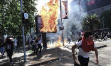 Violencia e incidentes en Chile, Ataque contra el gobierno chileno, Sebastián Piñera, Santiago de Chile