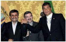 Correa y Ahmadinejad